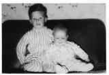 Very young me with big bro Jim, Dumbarton, Scotland.