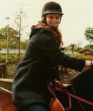 Atop my friend's horse Skippy down Aston End