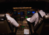 Prepairing The Aircraft For Approach To Ted Stevens Airport, Anchorage, AK, USA