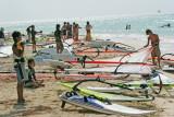 Windsurfers at Microbeach