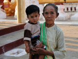 Woman and Child in Mandalay Temple