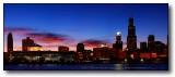 Chicago Sky Line and Aquarium