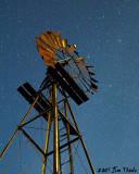 Moon lit windmill