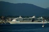 Cruise Ship Leaving Vancouver