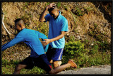 blue boys after basketball