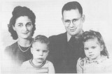 This is a shot of the Coatney family, around 1945. The two children shown are my uncle & my mother.