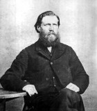 Joseph Wiston Merrill was the eldest of six children born to Samuel Merrill & his wife, Martha Wiston. He was born in Nantwich, County Chestershire England in 1832. He came with his family to Painesville Ohio, & went with them to Ontario Canada. Joseph was a Methodist Minister & in 1880 was sent to the plains of Lancaster County Nebraska. On a missionary call he went to Colorado Springs Colorado in 1896 & died there. I've no idea where exactly he's buried, nor if he even has a gravestone. This is a family picture handed down to me from my grandmother, Hazel Alice Merrill. I am now in possession of the original photograph.