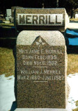 This stone is located in Riverside Cemetery, Crete, Saline County Nebraska.