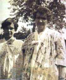 Here we see a picture of Dorothy Mae Bishop Merrill with her daughter, my grandmother, Hazel Alice Merrill. The original photograph shown was given to me by my grandmother, Hazel Alice Merrill. I am in possession of it still.