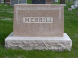 John H. Merrill died in Pleasant Dale Nebraska following a failed surgery. He is buried in Wyuka Cemetery, Lincoln, Lancaster County Nebraska. On 22 June in Meaford Canada John H. Merrill married Catherine Anne Shields. She died 15 October 1881 & is buried in Wyuka Cemetery, Lincoln Nebraska. Together this couple had four children. On 14 September 1886 he married Lucille Ann Carruthers. Together this couple had three children. She died 06 December 1894 & is buried in Pleasant Dale, Lancaster County Nebraska. On 22 January 1896 he married Belle Carruthers. Together this couple had two children. Belle died 14 January 1946 & is buried in Pleasant Dale, Lancaster County Nebraska.