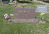 D. Whiston Merrill (Yes, the name on the tombstone seems to be mis-spelled) was the second of two children born to John H. Merrill & his wife, Belle Carruthers Merrill. He married Amy I Ferguron. They lie together in Pleasant Dale Cemetery, Pleasant Dale, Lancaster County Nebraska.
