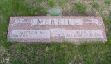 John Carruthers Merrill was the youngest of two children born to Arthur Whiston Merrill & his wife, Elaine Abel Merrill. On 07 April 1940 he married Darthula M. Null. Together this couple had four children. They rest together in Wyuka Cemetery, Lincoln Nebraska.