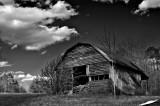 Barn atop Cheaha Mountain in Talladega Al. USA
