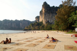 Enjoying a cold beer at sunset - Railay West