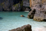 Rare quiet spot on Maya Bay