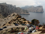 Traffic jam at Cap De Formentor