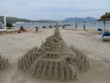 Sand castle at Port de Pollenca