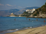 Sperlonga - the town on rocks in the background