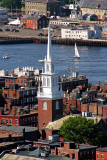 Old North Church and Boston Harbor