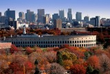 Mount Auburn Cemetery, Soldiers Field, and Skyline in Fall