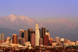 L.A. Skyline and San Bernardino Mountains at Sunset