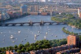Sailboats on the Charles River, 4th of July