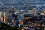 Aerial Photo of Beacon Hill and Zakim Bridge in the Evening, Boston