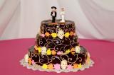 Bob and Ana's Calavera Wedding Cake