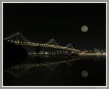 Moon over San Francisco Bay Bridge_353a