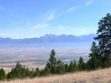 View of Flathead Valley and Mission Range