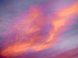 Violet evening sky
