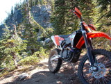 KTM 505 XCF in Pacific NW Cascade Mountains