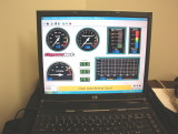 Dyno Display with Tach, Speed, Air/Fuel Ratio
