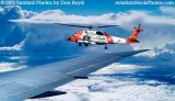2003 - USCG HH-60J #CG-6041 from B767-400 - Coast Guard fantasy stock photo