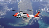 2002 - USCG HH-60J #CG-6041 over Florida - Coast Guard fantasy stock photo
