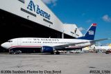 US Airways B737-33A N166AW in new US Airways paint scheme airline aviation stock photo #0228_US06