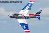 Dale Snodgrass performing in his F-86 air show stock photo #2370