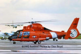 1992 - Coast Guard operations after Hurricane Andrew - HH-65 CG-6547 and C-130