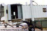 1992 - Hurricane Andrew damage to the C-8 jet bridge