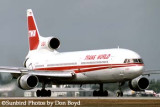 TWA L1011-385-1 TriStar 50 N31022 airline aviation stock photo
