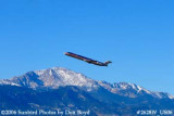 American Airlines MD-82 N408AA with Pike's Peak in the background airline aviation stock photo #2628W