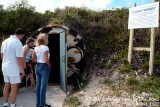 2007 - Entrance to the John F. Kennedy bomb bunker on Peanut Island landscape stock photo #0891