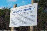 2007 - Kennedy Bunker sign at entrance to bomb shelter built for JFK stock photo #0891C
