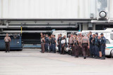 Miami-Dade Police, Miami-Dade Fire, and U. S. Customs Border Patrol honor the return of a fallen soldier photo #2120