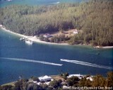1981 - Aerial view of Coast Guard Station Lake Worth Inlet on Peanut Island