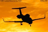 Bombardier Aerospace Corporation's Learjet 60 N245FX corporate aviation sunset stock photo #2956