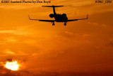 KMI Management LLC's Learjet 45 N858MK corporate aviation sunset stock photo #2967