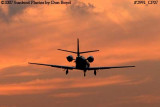 Unknown Cessna Citation 56X corporate aviation sunset stock photo #2991