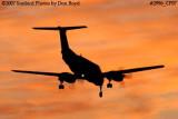 AirHerrig LLC's Beech Super King Air A-200 N637B corporate aviation sunset stock photo #2996