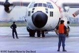 1992 - Coast Guard operations after Hurricane Andrew - HC-130H starting up